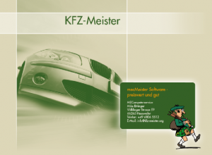 kfzMeister Welcome screen